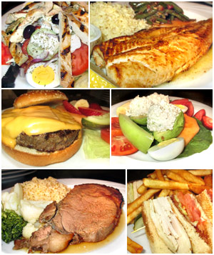 Assorted Jimmy's Restaurant dishes for breakfast, lunch and dinner